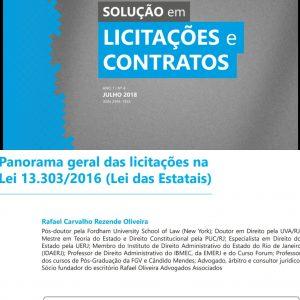 O Sócio E Professor Dr. Rafael Oliveira Publicou Novo Artigo Sobre As Licitações Na Lei Das Estatais